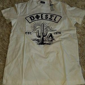 Men's Diesel white tee size xl